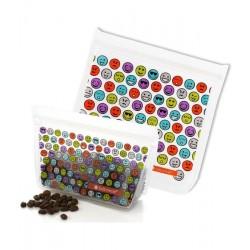 Ziptuck Reusable Snack Bag Duo Emoticons - Full Circle