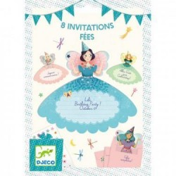8 cartes d'invitation Fées - Djeco Djeco