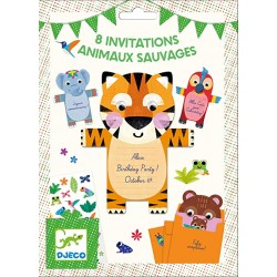 8 cartes d'invitation Animaux - Djeco Djeco
