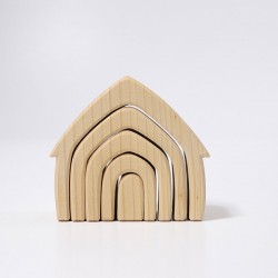 Natural Wood Stackable House - Grimm's