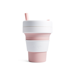Collapsible Cup Biggie 16 Oz Pink - Stojo