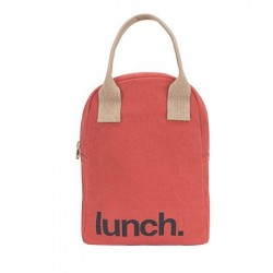 Zipper Lunch Bag Mega Solid Red - Fluf