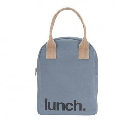 Zipper Lunch Bag Mega Solid Blue - Fluf