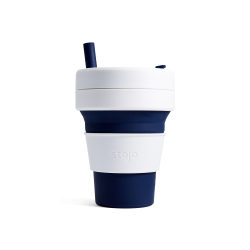 Collapsible Cup Biggie 16 Oz Indigo - Stojo