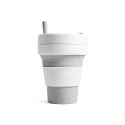 Collapsible Cup Biggie 16 Oz Dove - Stojo