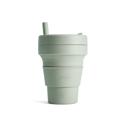 Collapsible Cup Biggie 16 Oz Sage - Stojo