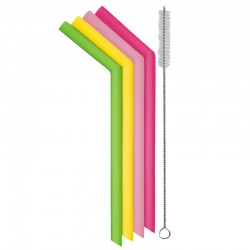 Smoothie Reusable Silicone Straws (set of 6) - Danesco
