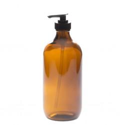 Bouteille avec pompe en verre ambré 500 ml - La Looma
