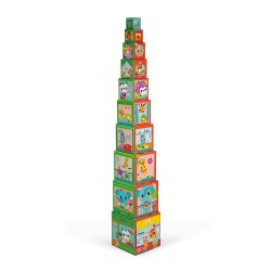 City Friends Square Stacking Pyramid - Janod