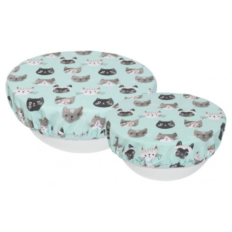 Set of 2 Bowl covers - Cats