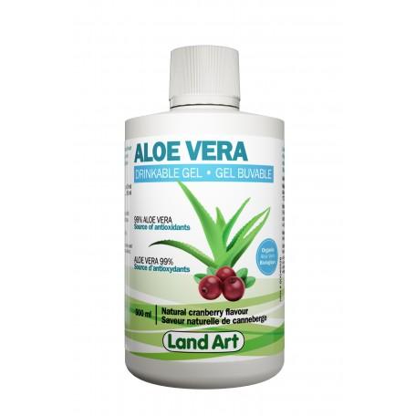 Gel d' Aloe Vera à la Canneberge - Land Art Land Art
