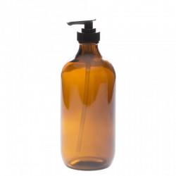 Bouteille avec pompe en verre ambré 236 ml - La Looma
