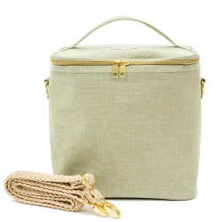 Large Linen Insulated Lunch Bag Sage Green - SoYoung
