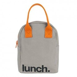 Zipper Lunch Bag Grey Pumpkin - Fluf