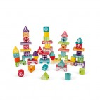 I Wood Edutotem Stackable pieces - Janod - 52 pcs