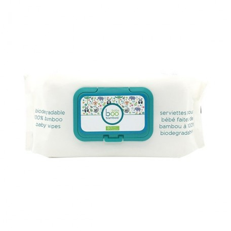 Biodegradable 100% Bamboo Baby Wipes - BooBamboo