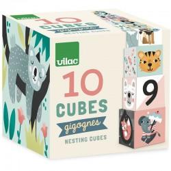 10 nesting cubes - Vilac