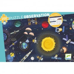 Observation Puzzle Space 200 pieces - Djeco