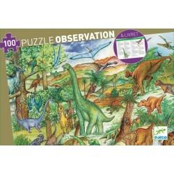Puzzle d'Observation Dinosaures 100 pièces - Djeco Djeco