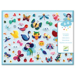 100 Puffy Stickers Little wings - Djeco