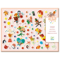 100 Puffy Stickers The Party - Djeco
