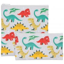 Ensemble de deux sacs à collation réutilisables Dandy Dino - Now Designs Now Designs