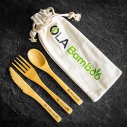 Ensemble d'ustensiles réutilisables en bambou - Ola Bamboo OLA Bamboo