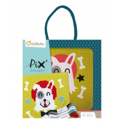 Pix' Cross Stitch Cat - Avenue Mandarine