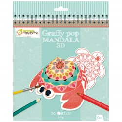 Graffy Pop Mandala 3D - Avenue Mandarine