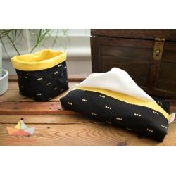 Mouchoirs lavables réutilisables (boite de 12) - Bateau Bateau Bateau Bateau