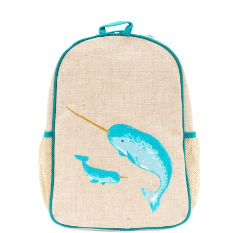 Raw Linen Toddler Backpack - So Young - Bunnies