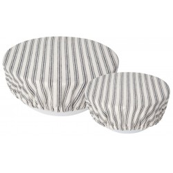Set of 2 Bowl covers Ticking Stripe - Now Designs
