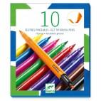 10 Feutres Pinceaux - Djeco Djeco