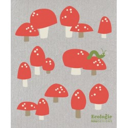 Totally Toadstools Reusable Towel - Now Designs