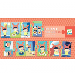Puzzle 10 pieces The day - DJECO