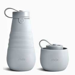 Foldable bottle grey - STOJO