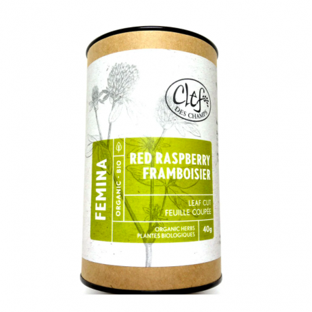 Red Raspberry Herbal Tea - Clef Des Champs