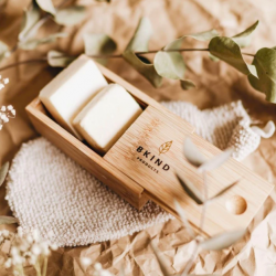 Bamboo case for shampoo and conditionner bars - BKIND