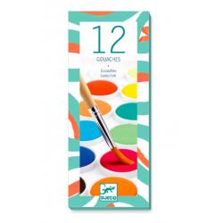 12 pastilles de gouache - DJECO Djeco