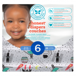 Biodegradable disposable diapers Size 6 - The Honest Company