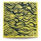 Large Reusable Patterned Paper Towel - Kliin - Main jaune