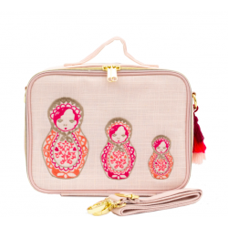 Insulated Lunch Box Raw Linen Dolls - SoYoung