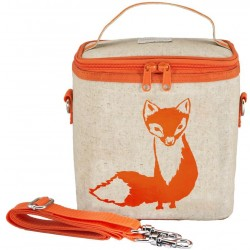 Raw Linen Insulated Lunch Poche Orange Fox - SoYoung