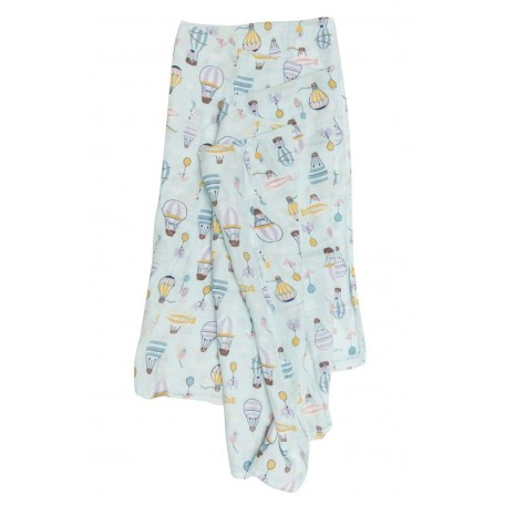 Bamboo Muslin Swaddle Woodland Gnome - Loulou Lollipop