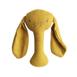 Bobby Bunny Stick Rattle Butterscotch - Alimrose