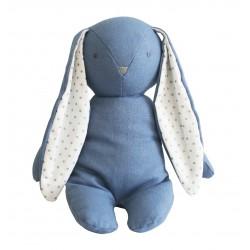 Chambray Bobby Floppy Bunny - Alimrose