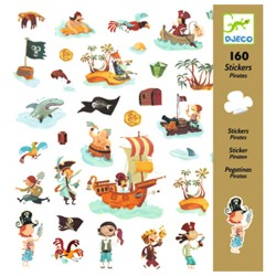 160 stickers Pirates - Djeco