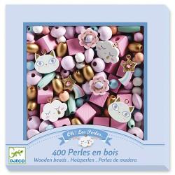 400 perles en bois, Arc-en-ciel - Djeco Djeco