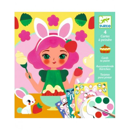 Cards to Paint - Snack Time - Djeco