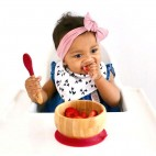 Bamboo suction bowl and spoon - Avanchy